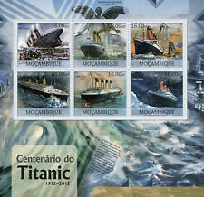 More details for mozambique ships stamps 2012 mnh rms titanic centenary boats nautical 6v m/s