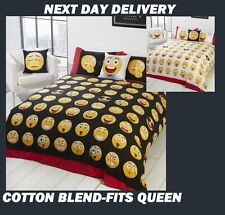 EMOJI EXPRESSIONS DOONA COVER SET DUVET QUILT FITS QUEEN,KIDS,NEXT DAY DELIVERY*