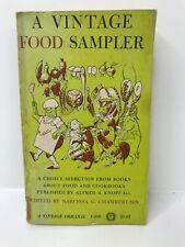 A vintage Food Sampler Paperback 1962