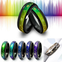Color Changing Women Men Mood Rings Temperature Emotion Feeling Couples Rings