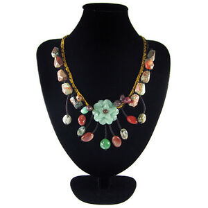 BEAUTY Natural Green Aventurine & Spider Web Agate Hand-crocheted Necklace