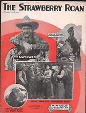 Strawberry Roan 1931 Ken Maynard also includes Hawaiian Guitar Solo Sheet Music