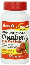 Mason Natural Highly Concentrated Cranberry with Probiotic Tablets 60 ea