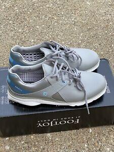 FootJoy Pro SL Golf Shoe Women's Size 8 M Grey/light Blue