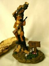 """Man Bait"" Funny Deer Hunter Hunting Humans Statue Sculpture Figurine 8"" Tall"