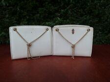 Set de 2 Pequeños bolsas de mano vintage decorado 1950 diseño siglo XX siglo