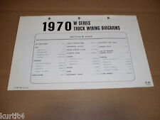1970 Ford W-series W9000 WT9000 truck semi wiring diagram SHEET service manual