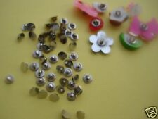 50 Button 7mm Shank Back/Silver Plated/sewing/tool/Finding/Craft/Trim B100