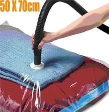4 x VACUUM STORAGE SPACE SAVING BAG BAGS VAC BAG 50 X 70 CM SPACE SAVER CLOTHES