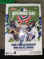 2021 Topps Baseball Opening Day 2021 Factory Sealed Blaster Box - 77 Cards Total