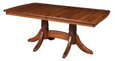 Amish Trestle Dining Table Traditional Rectangle Solid Wood Baytown