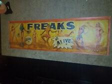 Vintage Freakshow  Sideshow  Circus Fair Carnival    FREAKS   Banner