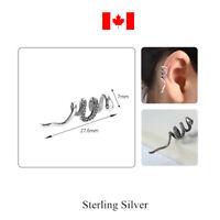 1PC 100% 925 Sterling Silver Earring Snake Ear Cuff Clip On Earring jewelry gift