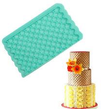 Grid Silicone Fondant Mould Baking Decoration Cake Mat Embosser Border Mold Tool