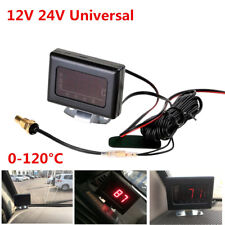 12/24V Universal Car Digital Water Temperature Gauge Meter+Sensor Head Plug 10mm