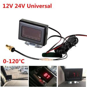 12/24V Universal Car Digital Water Temperature Gauge Meter+Sensor Head Plug 10mm