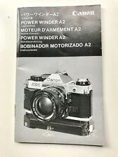 Canon Genuine Power Winder A2 Camera Instruction Book / Manual / User Guide