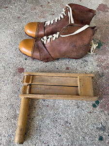 Vintage 1940's Boot Company Football Boots Size 7