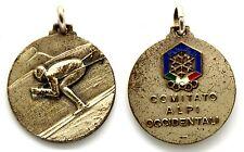 Medaglia Con Vernice Sportiva F.I.S.I. Comitato Alpi Occidentali Metallo Argenta