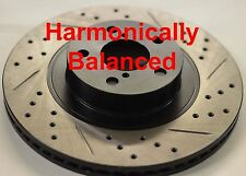 Fits Fiat 500X Drilled Slotted Brake Rotors Harmonically Balanced Front