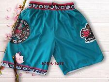 Memphis Grizzlies Shorts Pocket Zipper All Sewn