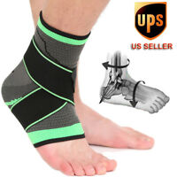 Compression Ankle Support Brace Strap Foot Wrap Sprains Injury Pain Basketball