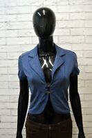 Giacca Corta Blu Donna LIU JO Taglia Size XS Jacket Woman Felpa Cotone Elastico