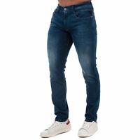 Mens Replay Anbass Slim Fit Jeans In Indigo Denim