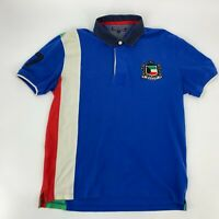 Vintage Tommy Hilfiger Mens Short Sleeve Polo Shirt Colorblock Knit Size XXL 2XL