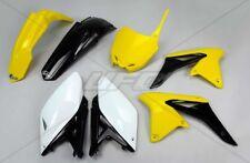 Kit plastique UFO motocross Suzuki RMZ 250 2013 origine jaune
