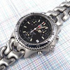 TAG Heuer Men's Sports Elegance Link Quartz Chronograph CG1110-1, Black Dial Box