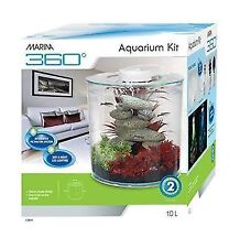 Marina 360 10L Aquarium with LED Lighting Kit