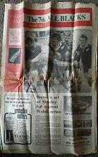 El 7th All Blacks 31 de octubre de 1972 Western Mail pre-match de rugby Suplemento Stradey