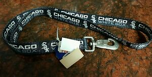 VINTAGE CHICAGO WHITE SOX DOG COLLAR AND LEASHES,MLB, MADE IN U.S.A.