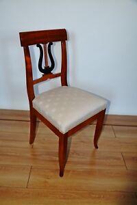 Biedermeier Stuhl  aus massiven Kirschbaum