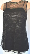 AKRIS BLACK CHEER METALLIC SHORT SLEEVES SIZE 12