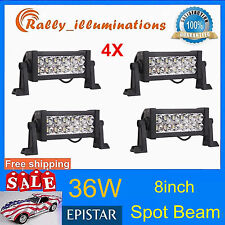 4X 8''in 36W Epistar LED Light Bar Truck Driving Fog Lamp SUV Car SPOT LAMP Boat