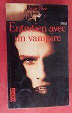 Livre ENTRETIEN AVEC UN VAMPIRE Pocket ANNE RICE 1990 *