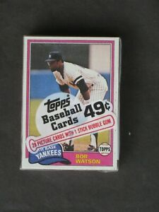 1981 TOPPS UNOPENED CELLO PACK 28 CARDS BOB WATSON FRONT DAVE McKAY BACK MT