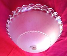French Art Deco Ezan Frosted Pressed Glass Light Chandelier Shade F