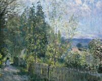 The Road In The Woods Alfred Sisley Fine Art Deco Print on CANVAS Giclee Small