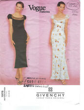 1996 Vintage VOGUE Sewing Pattern B34-36-38 DRESS (1852) Givenchy John Galliano