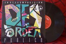 Latin Ska DESORDEN PUBLICO ** En Descomposicion ** ORIGINAL 1990 Venezuela LP