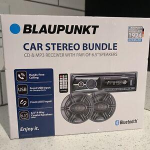 "BRAND NEW Blaupunkt Omaha206 CD & MP3 Receiver with Pair 6.5"" Speaker Bundle"