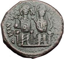 JUSTIN II &  Sophia 565AD Nicomedia Follis Genuine Ancient Byzantine Coin i64837