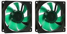 2 x 80mm Nanoxia Deep Silence SILENZIOSA PC CASE VENTOLA 1200 RPM, 15.8 CMF, 13.6 DBA
