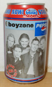BOYZONE Music Stars PEPSI COLA Can from GERMANY (33cl)