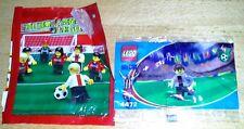 2002 LEGO Coca World Cup Soccer Promo Minifigure Secret B (Silver) #4472 mip