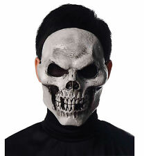 Skull Day Of The Dead Grim Reaper Skeleton Horror Mens Costume Injection Mask