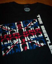 WOMEN'S TEEN JR'S THE BEATLES A HARD DAY'S NIGHT British Flag T-shirt MEDIUM